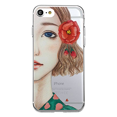 غطاء من أجل Apple نموذج غطاء خلفي امرآة مثيرة كارتون زهور ناعم TPU إلى iPhone 7 Plus iPhone 7 iPhone 6s Plus iPhone 6 Plus iPhone 6s