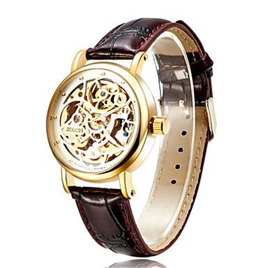 Bărbați Ceas La Modă ceas mecanic Mecanism automat Piele Bandă Maro
