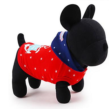 Câine Costume Haine Hanorace cu Glugă Îmbrăcăminte Câini Respirabil Draguț Casul/Zilnic Cosplay Mată Rosu Albastru Costume Pentru animale
