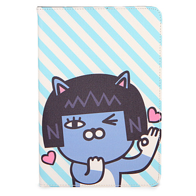 Voor apple ipad (2017) pro 9.7 '' case hoesje met tribune flip patroon full body case cartoon hard pu leer lucht 2 lucht ipad2 3 4 mini1 2