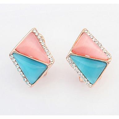 Dames Oorknopjes Druppel oorbellen Ring oorbellen Synthetische Opaal Bergkristal Basisontwerp Uniek ontwerp Logostijl Bergkristallen