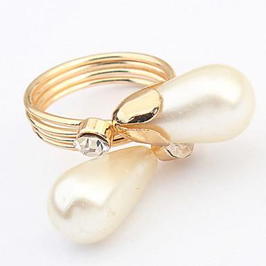 Herrn Damen Stulpring Ring Bandring Synthetischer Diamant Imitierte Perlen Personalisiert Einzigartiges Design Logo Stil Klassisch Retro