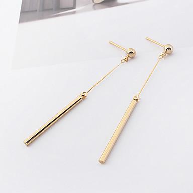 Damen Tropfen-Ohrringe Modisch Euramerican Simple Style Kupfer Linienform Schmuck Alltag Normal