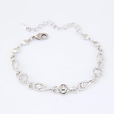 Dames Armbanden met ketting en sluiting Modieus Strass Legering Geometrische vorm Sieraden Casual/Dagelijks Kostuum juwelen