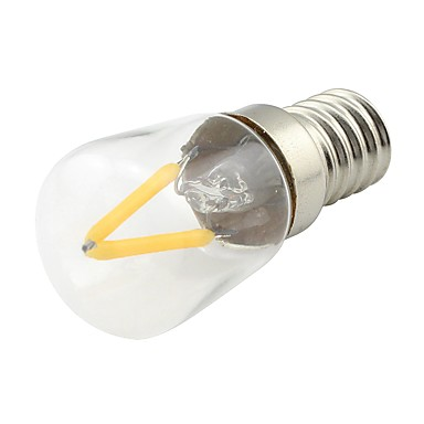 1pc 2W 170 lm E14 LED-gloeilampen 2 leds COB Warm wit AC 85-265V