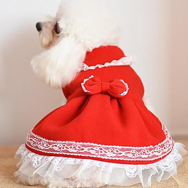 Câine Rochii Crăciun Îmbrăcăminte Câini Nod Papion Galben Fucsia Rosu Albastru Roz Other Costume Pentru animale de companie N/A Draguț