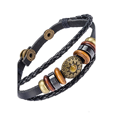 للرجال أساور من الجلد مجوهرات الطبيعة موضة جلد سبيكة غير منتظم مجوهرات مناسبة خاصة هدية