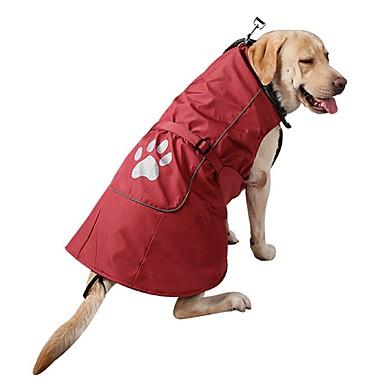 Hond Jassen Sweatshirt Hondenkleding Effen Rood Blauw Corduroy Nylon Kostuum Voor Lente & Herfst Winter Heren Dames Casual / Dagelijks Sport Modieus