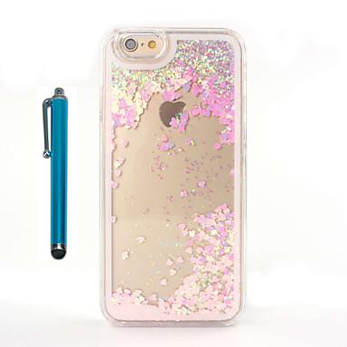 hoesje Voor Apple iPhone 8 iPhone 8 Plus Stromende vloeistof Transparant Achterkant Glitterglans Hard PC voor iPhone 8 Plus iPhone 8