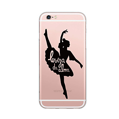 voordelige iPhone 5 hoesjes-hoesje Voor iPhone 7 / iPhone 7 Plus / iPhone 6s Plus iPhone SE / 5s Ultradun / Patroon Achterkant Woord / tekst / Sexy dame Zacht TPU
