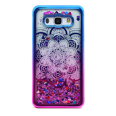 voordelige Galaxy J-serie hoesjes / covers-hoesje Voor Samsung Galaxy J5 (2016) / J3 (2016) / J3 Beplating / Stromende vloeistof / Transparant Achterkant Mandala / Glitterglans Zacht TPU