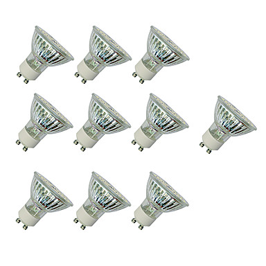 3W 280-420 lm GU10 LED ضوء سبوت MR16 60 الأضواء مصلحة الارصاد الجوية 3528 أبيض دافئ أبيض