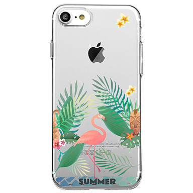 Maska Pentru Apple Transparent Model Carcasă Spate Flamingo Moale TPU pentru iPhone 7 Plus iPhone 7 iPhone 6s Plus iPhone 6 Plus iPhone