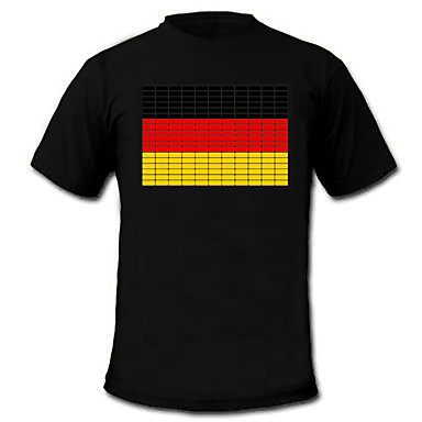 led t-shirts electro luminescent puur katoen party 2 aaa batterijen