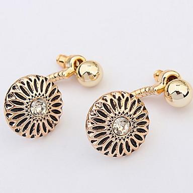 Damen Paar Ohrstecker Tropfen-Ohrringe Imitation Diamant Basis Einzigartiges Design bezaubernd individualisiert Rock nette Art