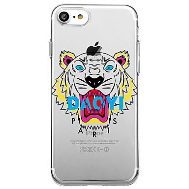 hoesje Voor Apple Transparant Patroon Achterkantje Woord / tekst dier Zacht TPU voor iPhone 7 Plus iPhone 7 iPhone 6s Plus iPhone 6 Plus