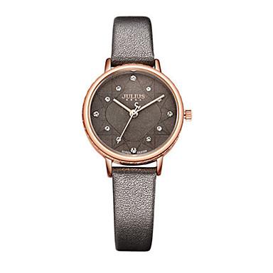 Damen Modeuhr Armband-Uhr Japanisch Quartz Wasserdicht Leder Band Schwarz Braun Grau