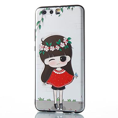 من أجل أغط / كفرات نموذج غطاء خلفي غطاء امرآة مثيرة ناعم TPU إلى Huawei Huawei P10 Plus Huawei P10 Lite Huawei P10 هواوي P9 Huawei P9
