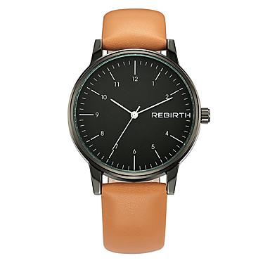 Dames Modieus horloge Chinees Kwarts PU Band Zwart Orange Bruin