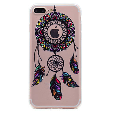 hoesje Voor Apple iPhone 7 Plus iPhone 7 Transparant Patroon Achterkant Dromenvanger Zacht TPU voor iPhone 7 Plus iPhone 7 iPhone 6s Plus