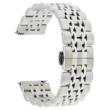 voordelige Horlogebandjes voor Samsung-Horlogeband voor Gear S3 Frontier / Gear S3 Classic LTE Samsung Galaxy Sportband Roestvrij staal Polsband