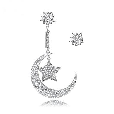 للمرأة حلقات مجوهرات تصميم فريد موضة euramerican في زركون سبيكة مجوهرات مجوهرات من أجل زفاف عيد ميلاد حفلة/سهرة تخرج مراسم