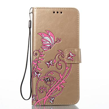 Hülle Für Samsung Galaxy S8 Plus S8 Kreditkartenfächer Geldbeutel mit Halterung Flipbare Hülle Geprägt Ganzkörper-Gehäuse Schmetterling