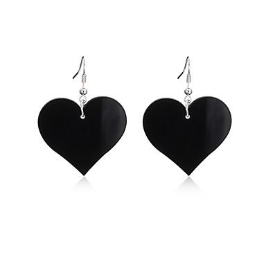 Pentru femei Cercei Picătură - Inimă Personalizat, Lux, Design Unic Alb / Negru / Rosu Pentru Inaugurare a unei case / Petrecere / Seară / Felicitări