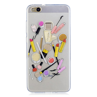 Voor huawei p10 p10 lite case cover patroon achterkant hoesje sexy lady soft tpu