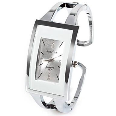 Dames Modieus horloge Unieke creatieve horloge Chinees Kwarts Strass imitatie Diamond Legering Band Informeel Bangle Zilver