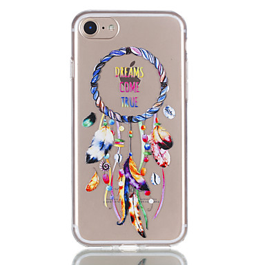 hoesje Voor Apple iPhone 7 Plus iPhone 7 Transparant Patroon Achterkant Dromenvanger Zacht TPU voor iPhone 7 Plus iPhone 7 iPhone 6s Plus