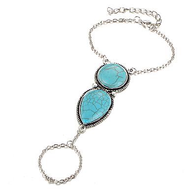للمرأة أساور خاتم بوهيميان سبيكة Circle Shape مجوهرات لباس يومي مجوهرات فضي