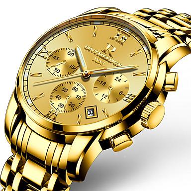 Bărbați Ceas de Mână Ceas Brățară Ceas Militar  Ceas Elegant  Ceas La Modă Ceas Casual Japoneză Quartz Calendar Iluminat Oțel inoxidabil