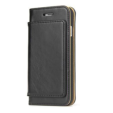 Voor apple iphone 7 plus 7 pcol ® case cover kaarthouder portemonnee flip full body hoesje solid color hard echt leren telefoon hoesje