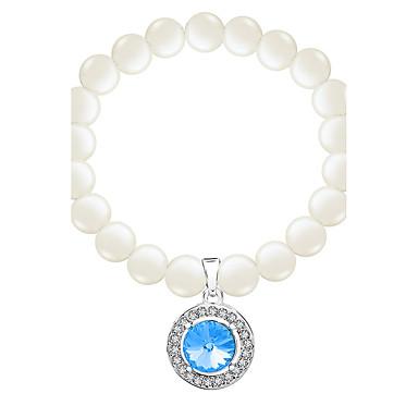 Pentru femei Brățări cu Lanț & Legături Bratari Strand Bijuterii Vintage Natură Confecționat Manual Modă Perle Cristal Oțel titan Aliaj