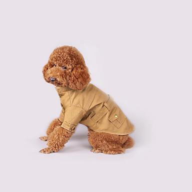 Hond Jassen Hondenkleding Casual/Dagelijks Effen Jager Groen Khaki Kostuum Voor huisdieren