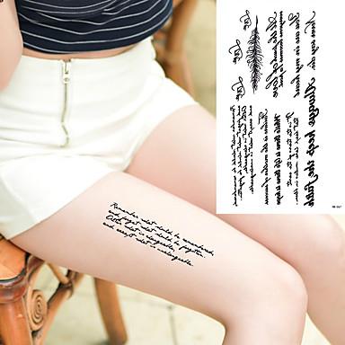 Tatoeagestickers Overige Non Toxic Waterproof Dames Heren Tiener Tijdelijke tatoeage Tijdelijke tatoeages