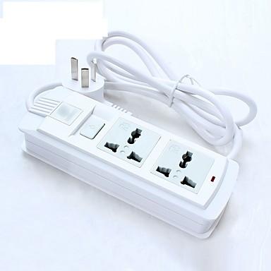 Power strip 250v 10a met schakelaar 1.8m kabel us plug uk plug eu stekker