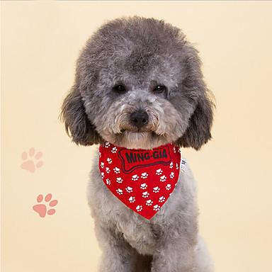 Kat Huisdieren Hond Bandana sjaal kraag Stropdas/Vlinderdas Hondenkleding Bot Rood Blauw Stof Kostuum Voor huisdieren Heren Dames Unisex