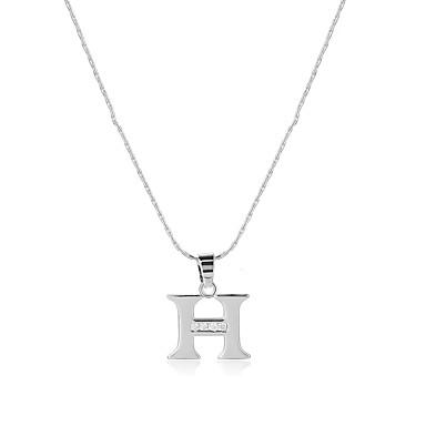 Bărbați Pentru femei Alphabet Shape Stil Logo Boem Confecționat Manual Balanța de putere Bijuterii Statement SUA Coliere cu Pandativ