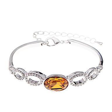 Pentru femei Brățări cu Lanț & Legături Bijuterii Vintage Natură Modă Confecționat Manual Cristal Aliaj Oval Shape Bijuterii Pentru Nuntă