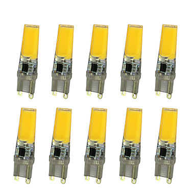 10 Stück 5W 360lm LED Doppel-Pin Leuchten T LED-Perlen COB Warmes Weiß / Weiß 220-240V