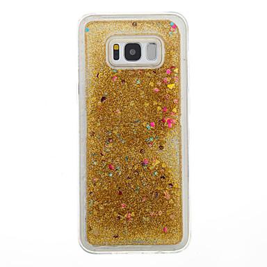 غطاء من أجل Samsung Galaxy S8 Plus S8 سائل متدفق شفاف نموذج غطاء خلفي قلب شفاف بريق لماع ناعم TPU إلى S8 Plus S8 S7 edge S7 S6 edge S6 S5