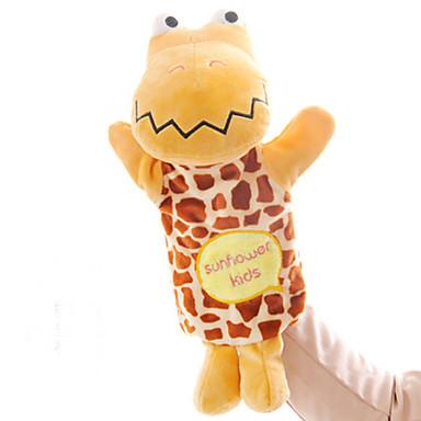 عرائس الأصابع دمى عرائس كلب لليد ألعاب محشوة ألعاب تمساح حيوان جذاب محبوب قطيفة قطع