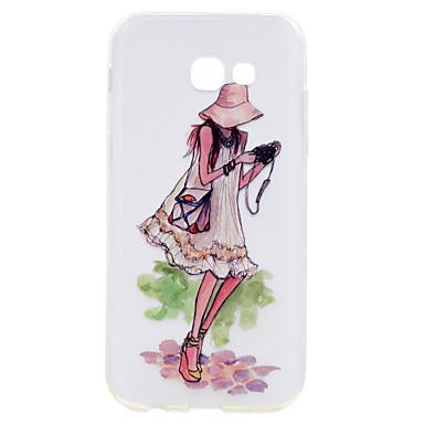 Hülle Für Samsung Galaxy A5(2017) A3(2017) Transparent Muster Rückseitenabdeckung Sexy Lady Weich TPU für A3 (2017) A5 (2017)