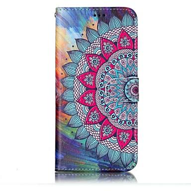 غطاء من أجل Samsung Galaxy S8 Plus S8 حامل البطاقات محفظة مع حامل قلب مغناطيس نموذج مطرز غطاء كامل للجسم ماندالا نمط قاسي جلد PU إلى S8