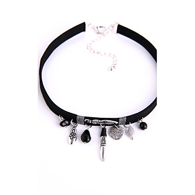 Damen Modisch Euramerican Halsketten Plüsch Aleación Halsketten . Hochzeit Geburtstag Party Veranstaltung / Fest Bühne Valentinstag