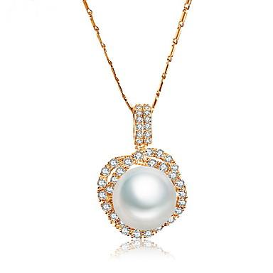 Pentru femei Coliere cu Pandativ Bijuterii Bijuterii Perle Zirconiu Aliaj Design Unic Modă Euramerican Bijuterii Pentru Nuntă Petrecere