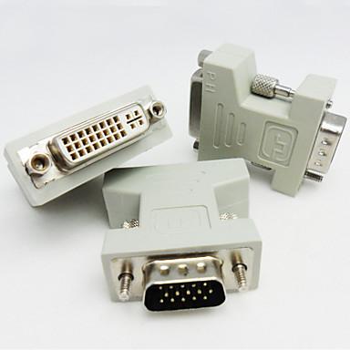DVI Adaptor, DVI to VGA Adaptor Bărbați-Damă 720p Oțel placat cu nichel 800 Mbps