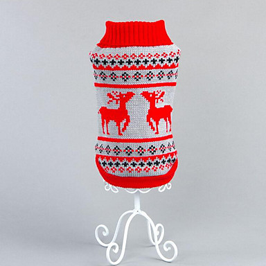 Hond Truien Hondenkleding dier Rood Zwart Katoen Kostuum Voor huisdieren Heren Dames Casual/Dagelijks